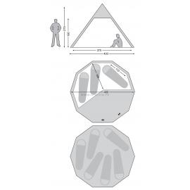 ALFHEIM NORDISK - 12,6 m² : Dimensions