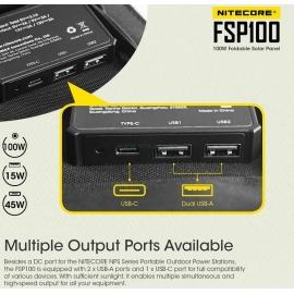FSP100 NITECORE : 2 ports USB-A et 1 port USB-C