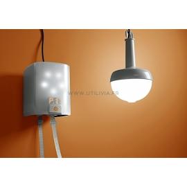 NOWLIGHT : Lampe et SatLight allumées - Marque Deciwatt
