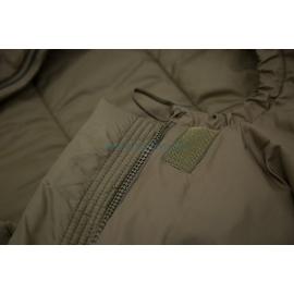 DEFENCE 4 - Taille 185  : Sac de couchage 4 saisons ultra résistant - Zoom sur bord de capuche - Ouvert - Marque CARINTHIA