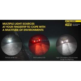 NITECORE NU32 : Lampe frontale - 3 types de leds - Marque Nitecore